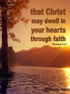 Ephesians 3 17 Christ Dwell In Your Hearts By Faith  Brown