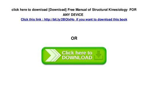 kinesiology books free download