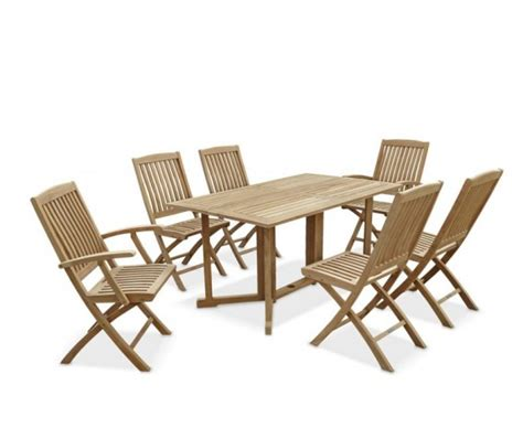 shelley rectangular folding garden table and chairs set