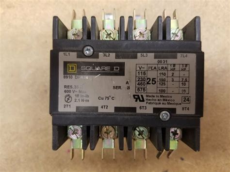 square d type dpa24 8910 25a 4 pole contactor 24v coil contactor block ebay