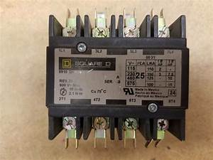 Square D Type Dpa24 8910 25a 4 Pole Contactor 24v Coil