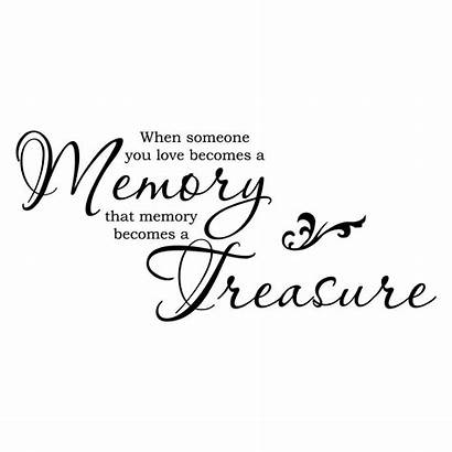 Someone Becomes Memory Quote Vinyl Sticker Lettering