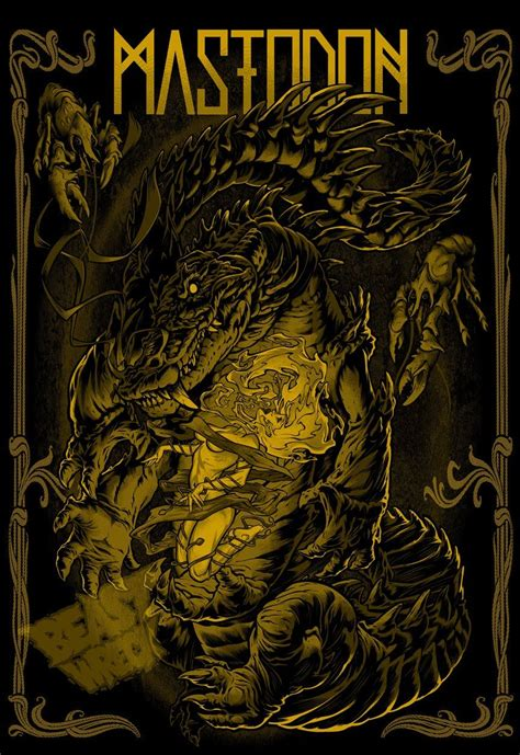 mastodon heavy metal art  artwork band posters