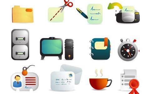 icone de bureau fournitures de bureau vecteur icônes télécharger