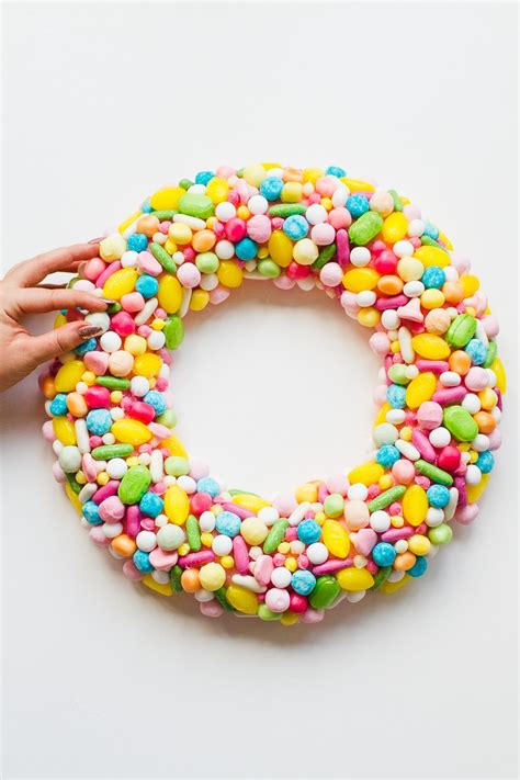diy candy christmas wreath bespoke wedding blog