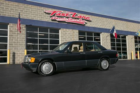 This 1989 mercedes benz 190e for sale has a 2.6 liter fuel injected 6 cylinder, automatic transmission, same owner since 1994, only 76,024 original miles, very original car, original interior, power sunroof, power mirror, original becker am/fm stereo, power windows, power antenna. 1989 Mercedes-Benz 190E | Fast Lane Classic Cars