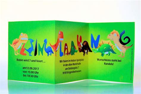dinosaurier einladung kindergeburtstag planende