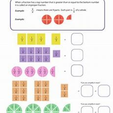 Introduction To Improper Fractions Educationcom