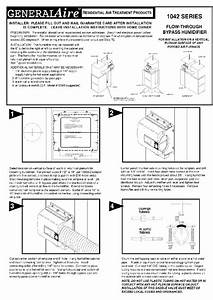Generalaire 1042 Series Humidifier Installation