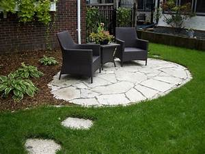 Great backyard patio ideas with stone floor with black for Ideas for backyard patios cheap