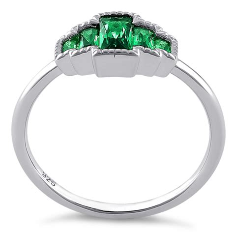 Sterling Silver Five Radiant Cut Emerald Cz Ring. Bouquet Rings. Titanium Quartz Watches. Twisted Gold Bangle. Gemstone Diamond. 1ct Diamond Rings. Art Earrings. Mociun Engagement Rings. Quote Necklace