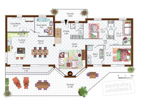 poele de cuisine maison en bois moderne dé du plan de maison en bois