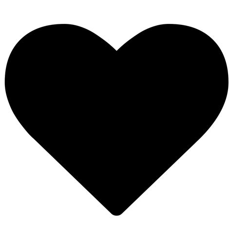 Heart empty svg vector icon. File:Heart font awesome.svg - Wikimedia Commons