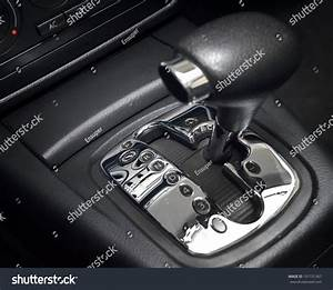 Automatic Transmission Gear Shift  Manual Mode Stock Photo