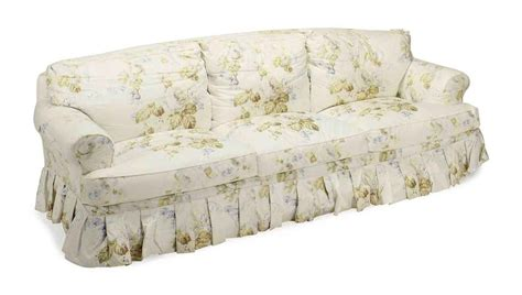 a pair of chintz upholstered three seat sofas 20th
