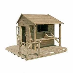 Cabane Enfant Leroy Merlin : maisonnette en bois ciboulette castorama jardin maisonnette en bois bois et cabane jardin ~ Melissatoandfro.com Idées de Décoration