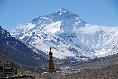04 Mount Everest North Face From Rongbuk Monastery Morning
