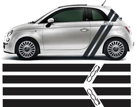 Fiat 500 Decals by Zen Graphics Fiat 500 Side Stripes Graphics Stickers Decals