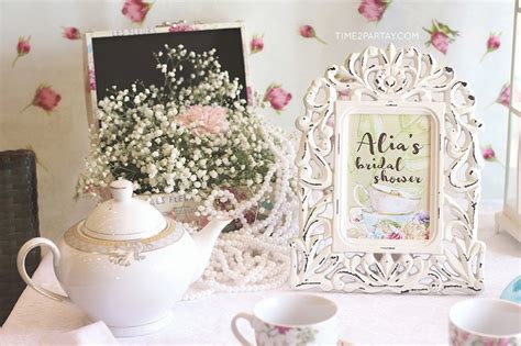 tea bridal shower decorations kara s ideas afternoon tea bridal shower kara s