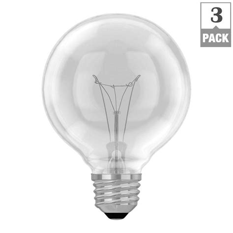 ge 40 watt incandescent g25 globe clear light
