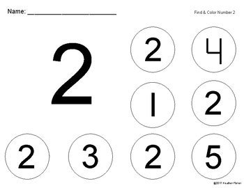 color number finder find and color numbers 1 5 by fisher teachers