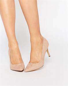New Look Nude Pointed Heeled Court Shoe from ASOS