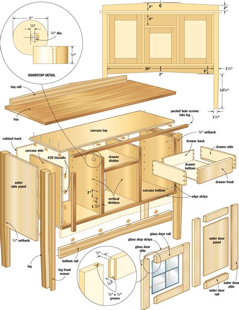 woodwork wood plans sideboard  plans