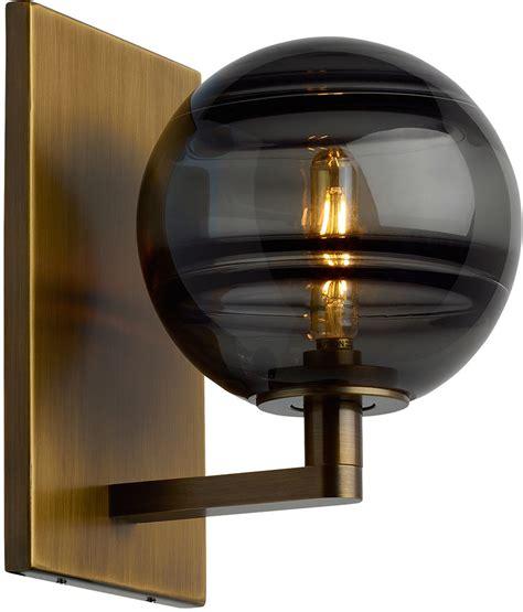 tech sedona contemporary aged brass led wall lighting