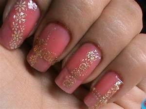 Easy lace nail art design tutorial with nail art stickers ...