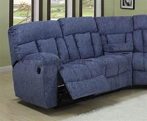 blue or beige fabric modern 5pc reclining sectional sofa With blue sectional sofa with recliners