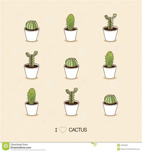 love cacti seamless cactus illustration stock vector