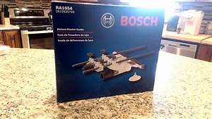 Bosch Ra1054 Deluxe Router Edge Guide Unboxing