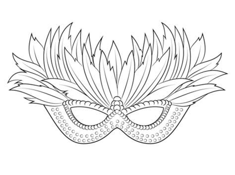 venetian mardi gras mask coloring page  printable