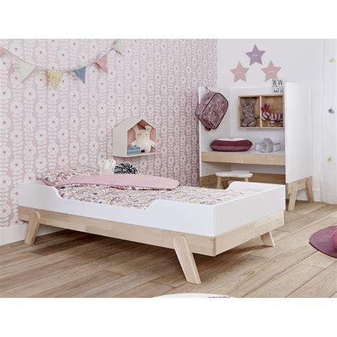 chambre complete adulte design lit enfant 70x140 bouleau blanc malo maloblcm01j
