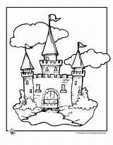 Castle Clipart Coloring Library Castles Beanstalk Jack Children Pages Clip Fairy Tale sketch template