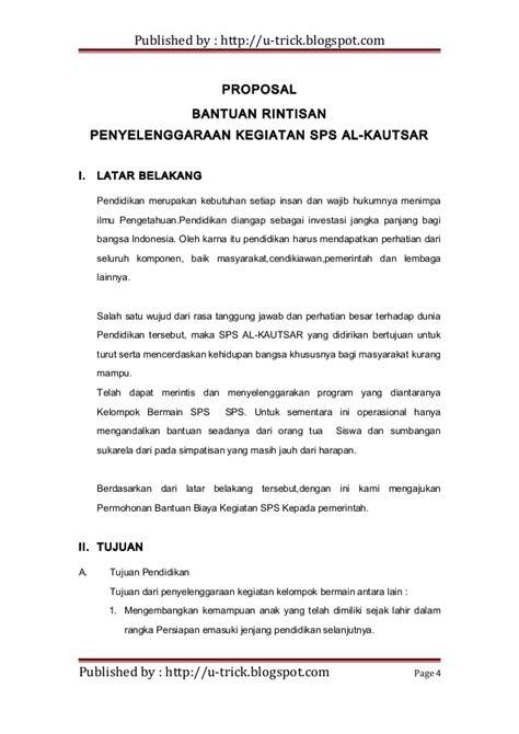 contoh proposal bantuan pendidikan ye