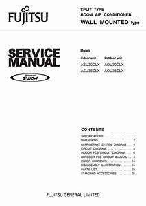 Fujitsu Split Type Air Conditioner Manual