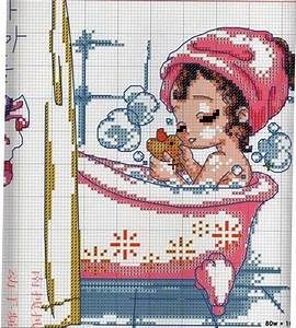 Punto de cruz gratis bolsos bathrooms pinterest for Bathroom cross stitch patterns free