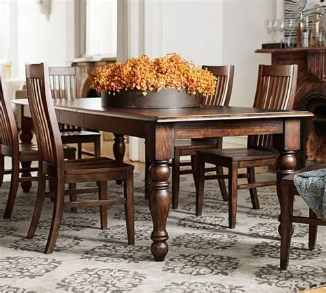 pottery barn kirkwood dining table evelyn extending rectangular dining table pottery barn
