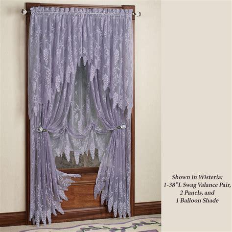 wisteria arbor lace valances  curtain panels