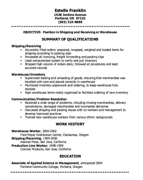 Free Sle Warehouse Resumes by Pin By Ririn Nazza On Free Resume Sle Warehouse