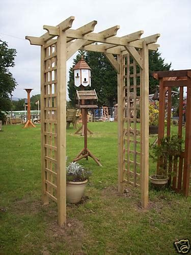 Square Wood Trellis by Beautiful Square Trellis Pergola Arch Sturdy Wood Ebay