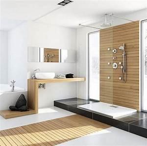salle de bains design moderne adoptez le blanc With salle de bain design avec branche décorative lumineuse