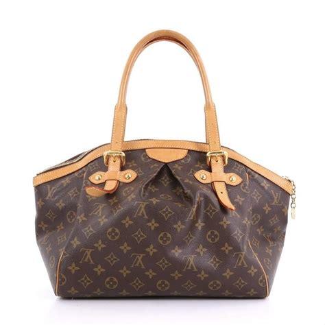 louis vuitton tivoli handbag monogram gm brown canvas shoulder bag tradesy