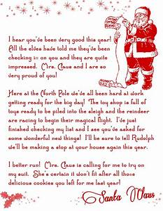 letter from santa jvwithmenowcom With letters by santa