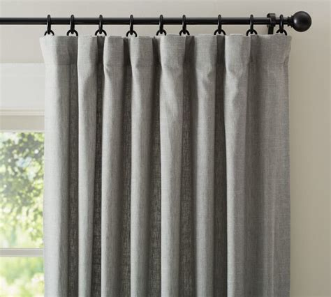 Pottery Barn Curtains Emery by Emery Linen Drape Gray Traditional Curtains By