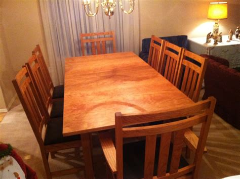 dining room table  chairs mission craft furniture