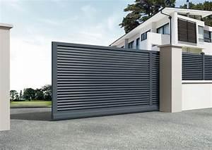 Portail Coulissant En Pente : portail en pente lapeyre ~ Premium-room.com Idées de Décoration