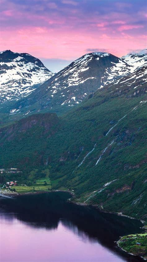 wallpaper norway   wallpaper fjord mountains