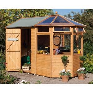 rowlinson potting store shed greenhouse pressure treated
